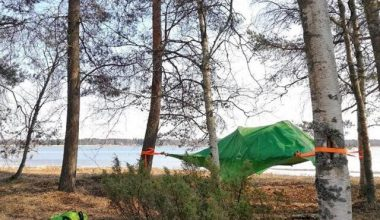 Spend the night in the open air, stay in a tree tent, tentsile!