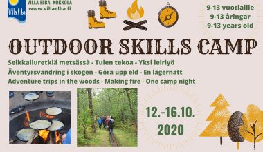 Outdoor Skills Camp 9-13 vuotiaille 12.-16.10.2020