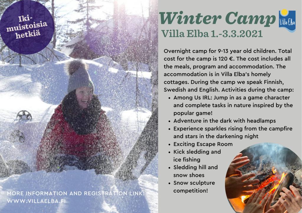 Winter Camp in Villa Elba 1.-3.3.2021 - Villa Elba