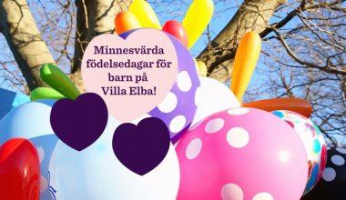 Födelsedagskalas för barn på Villa Elba