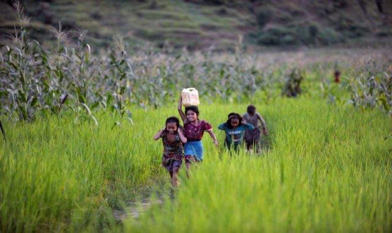 Tuplasti hyvää tekevä kävely Askel UNICEFille