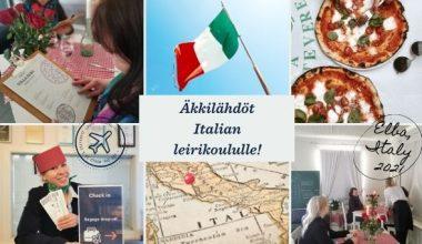 Lägerskola på Villa Elba med Italien -tema.